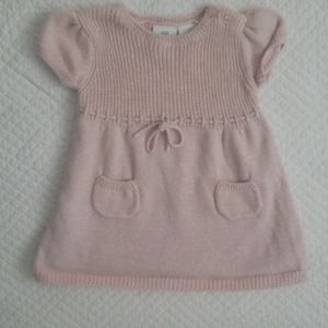 Koala Kids Sweater Dress Short Sleeve Pink